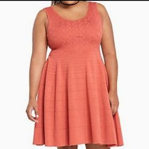 Torrid mixed stitch sweater dress 2x